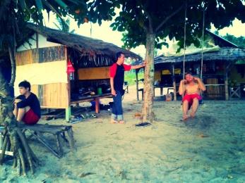 Saung Pak Asep, Pantai Sawarna, Banten.
